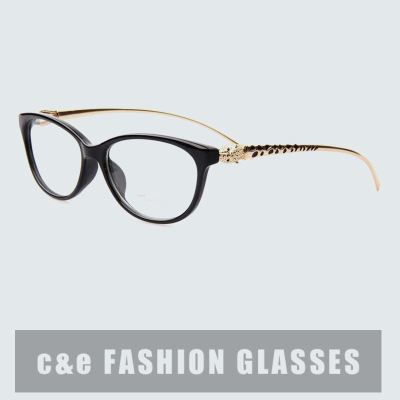 New Design Leopard Head Plain Eye glasses Men Women Optical Computer Make Myopia Eyeglasses Frame oculos de grau femininos A0028(China (Mainland))