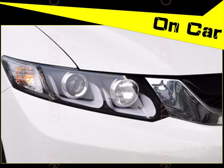 Car Styling LED Head Lamp for Honda Civic headlights 2012-2014 New Civic LED drl H7 hid Q5 Bi-Xenon Lens low beam