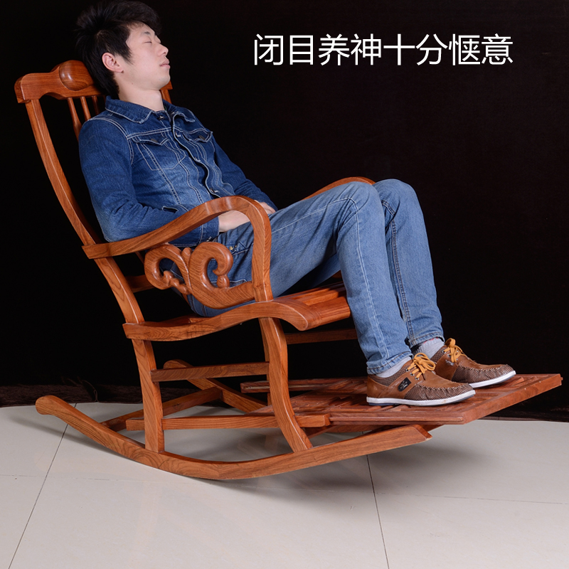 African rosewood balcony lounge chairs rocking chair Happy mahogany furniture Chinese Ming and Qing antique furniture(China (Mainland))