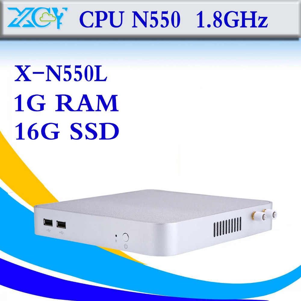Hot Selling Thin Client N270 2g ram 320g hdd Wifi Desktop Computer Industrial Mini Pc Fanless Box Pc Cheap Mini Desktop Pc