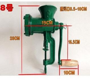 Cast Iron No. 8 grinder Mini Manual meat grinder Manual meat mincer slicer pepper grinder sausage filler