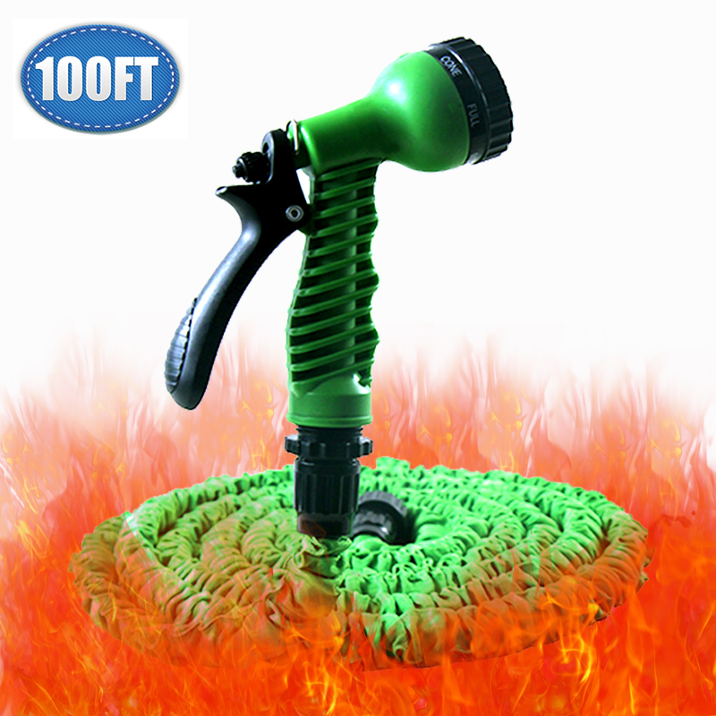 Expandable 75FT Working Length Magic Retractable Garden Hose+7 Function Spray Gun Flexible Extensible Pipe For Watering/Washing(China (Mainland))