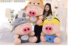 huge 90cm cartoon Mcdull pig Plush toy rich cartoon figures hat Mcdull doll hugging pillow toy birthday gift p9547