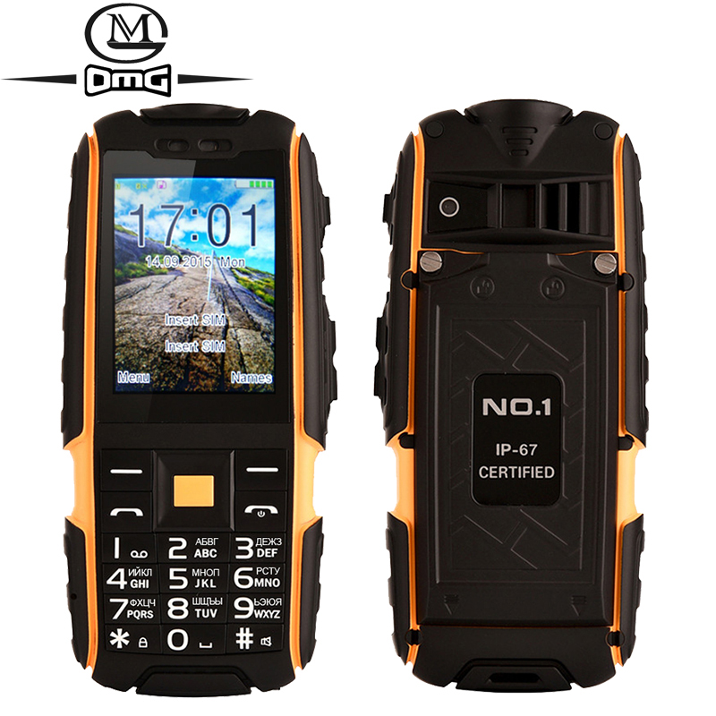 Original NO.1 a9 Russian keyboard IP67 Waterproof shockproof Dual SIM Card mobile cell phone 4800mAh battery FM flashlight