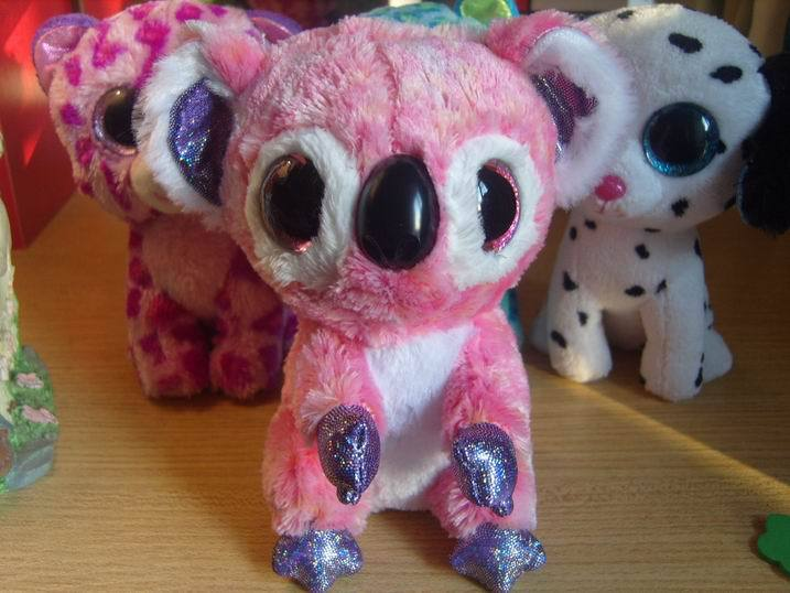 collection collection beanie big eyes stuff doll toy 6 inches pink color koala kacey(China (Mainland))