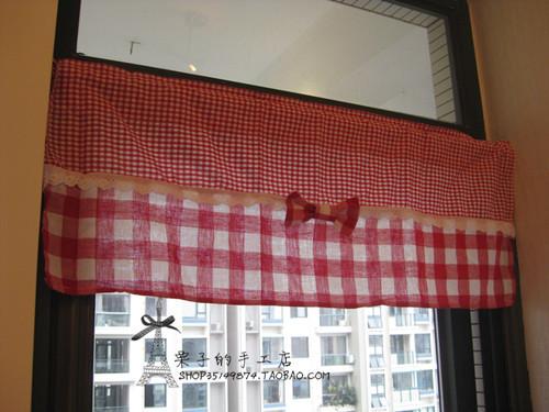 Cortina de cozinha vermelho popular buscando e comprando - Cortinas estilo rustico ...