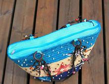 Wholesale 2015 Summer New Arrival Starry Straw Bag Women Handbag Lady Beach Bag Starfish Pattern Women