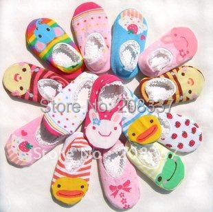 Hot selling! 30 pairs/lot free shipping wholesale fashion baby floor boat socks baby anti skid socks-Cute design!