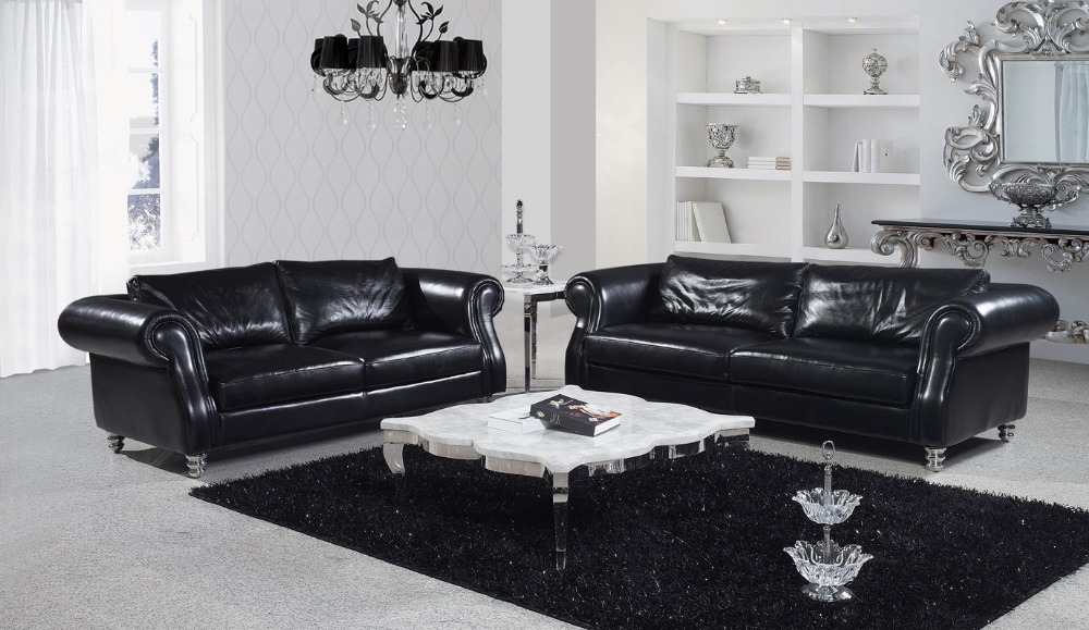 Living Room Italian Leather Sofa SF326 Leather Sofa Modern Sofa Living Room L