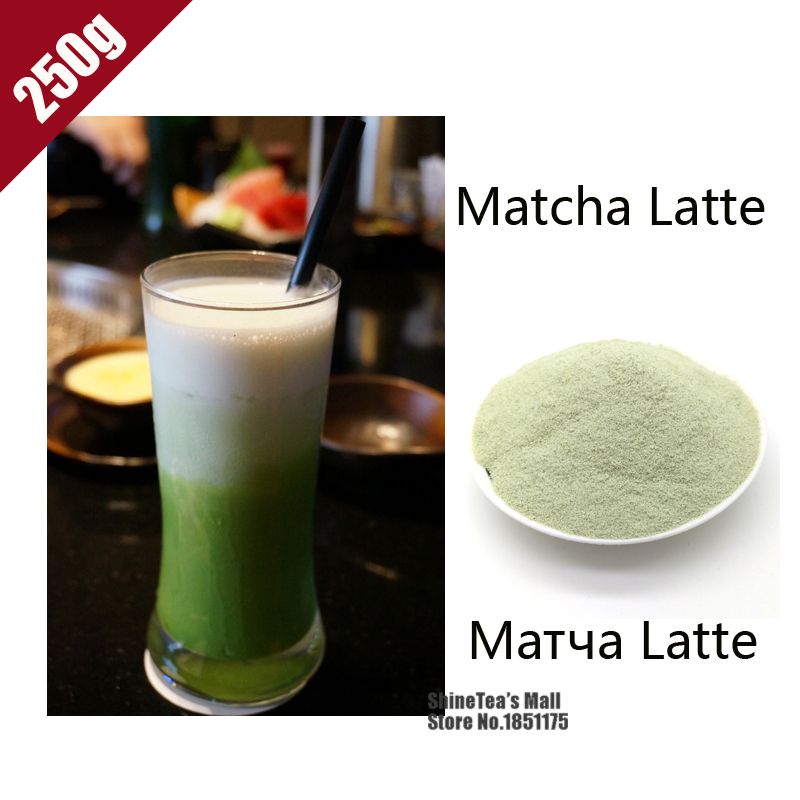 ShineTea 250g 100% Natural Organic Matcha Latte Green Tea Milk Powder Nutritious Breakfast Japanese Style Weight Top Quality(China (Mainland))