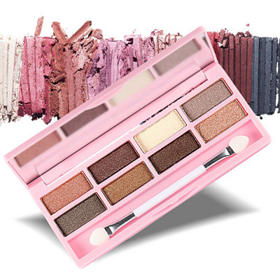 Hot Sale 1pcs Pro Cosmetic makeup Palettes Eyeshadow New Brand 8 Colors eye Shadow Brush make up set E1162(China (Mainland))