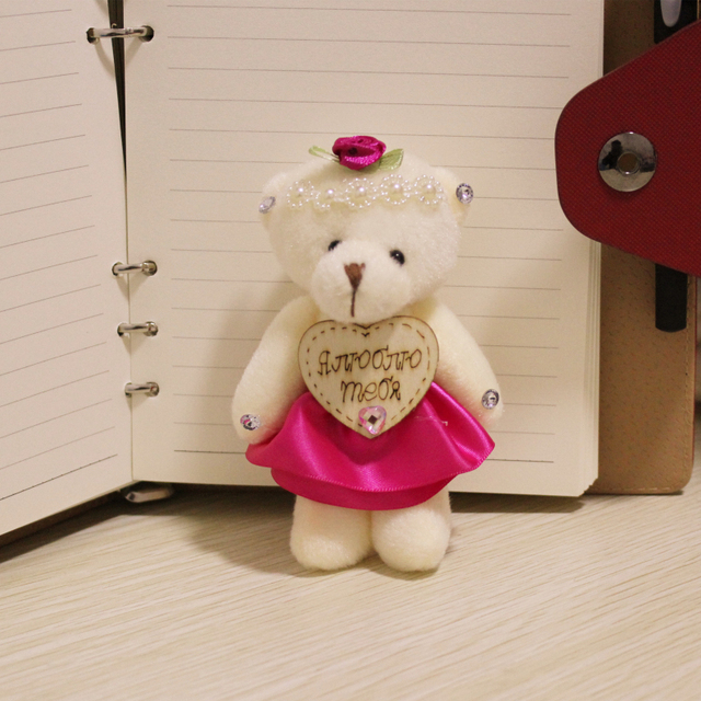 10 шт./лот симпатичные 12 см совместное боути мишка супер каваи игрушка куклы мягкая и плюшевые свадебный подарок букет декор BL1151