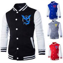 Pokemon Go Logo Team Valor/Instinct/Mystic Symbol Jacket Hoodie Cosplay Costume