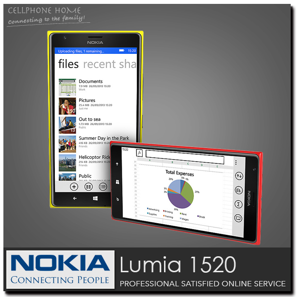 "1520 Unlocked 100% Original Mobile Phone NOKIA Lumia 1520 Quad-Core 2G+16G Storage WIFI Windows Mobile 8 6.0"" 1920x1080 20MP 3G(China (Mainland))"