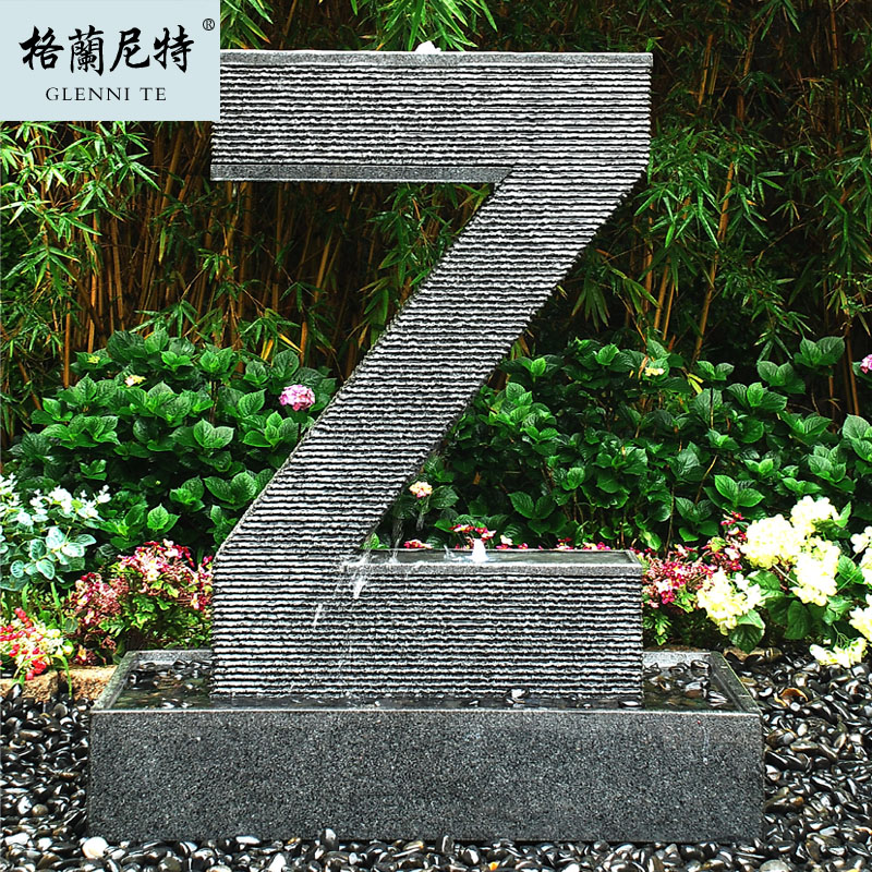 Glan letter z fountain granite humidifier decoration logo stones sculpture(China (Mainland))