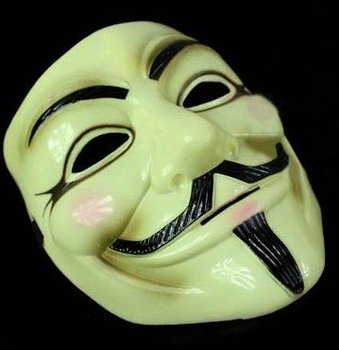 EMS Free Shipping Memorial Classics PVC V for Vendetta Movie Mask 20pcs/lot