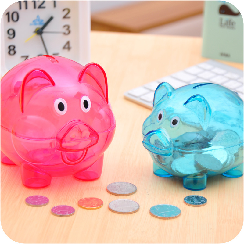 Lovely 3 Colors 2 Size Toy Story Hamm Piggy Bank Blue/ Green/Rose Pig Coin Box PVC Model Toys For Children Gift(China (Mainland))