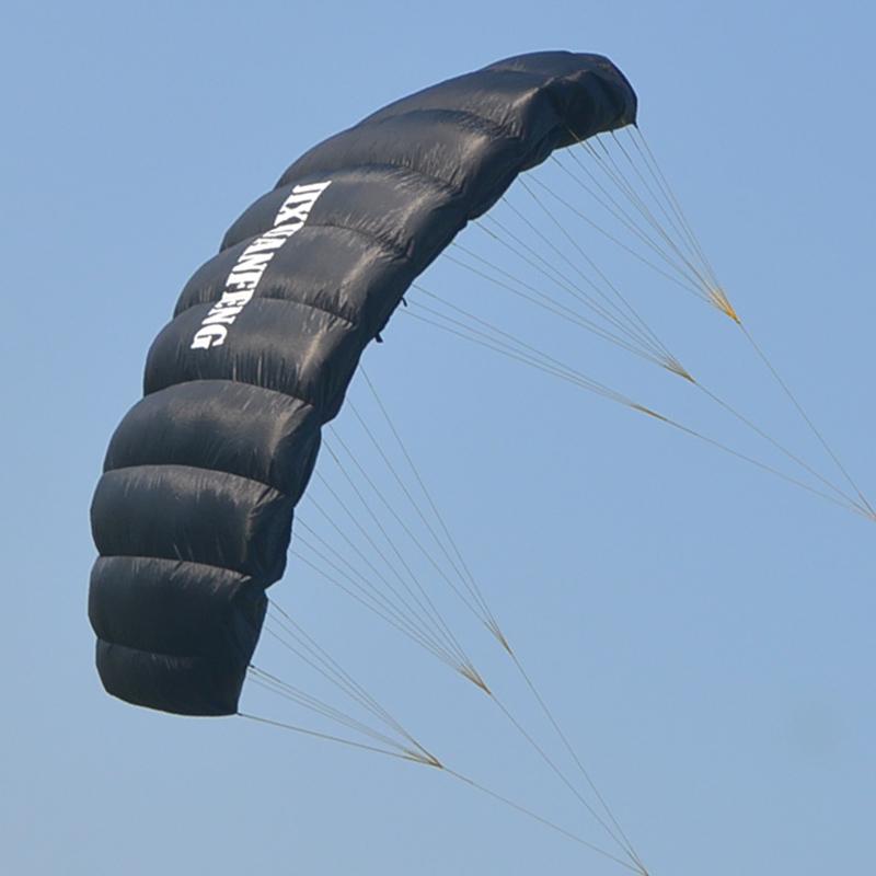 High quality 2.0sqm 2 line foil kite power kite train kite with 25m 220lbs dyneema line and handstrap(China (Mainland))