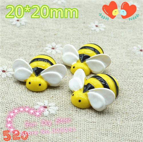 50pcs kawaii wholesale resin flat back 3D bee free shipping 20*20mm smaller(China (Mainland))