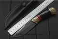 High quality New High carbon Steel Handmade Forged Damascus Hunting Knife HandMade Free shipping