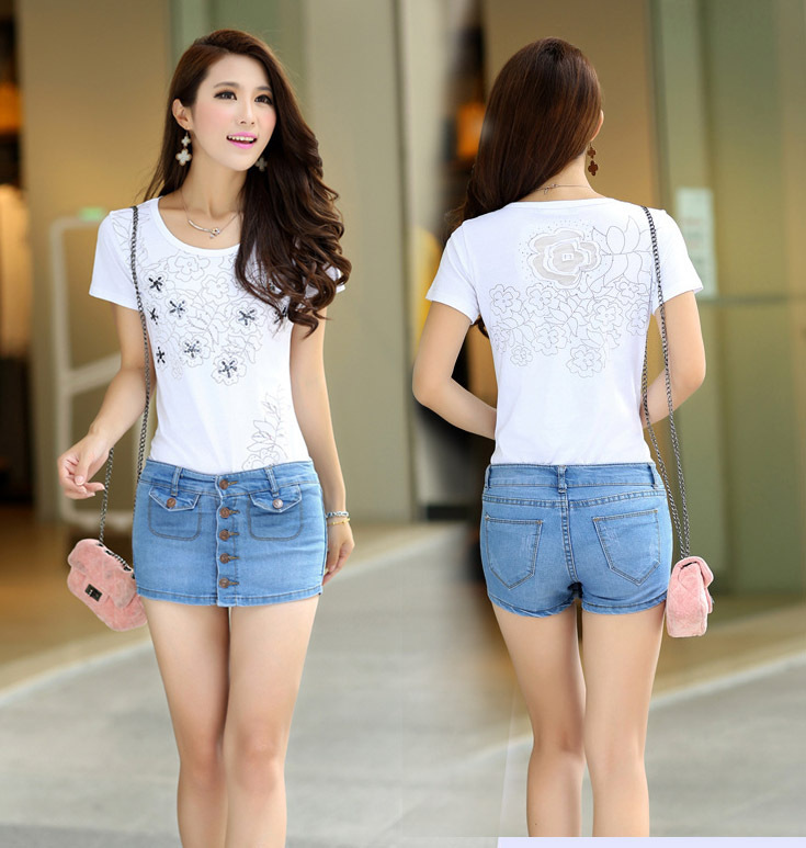 New Sale 2014 Fashion Tops For Women Ladies Girls Casual Summer Clothes Clothing Sexy Short