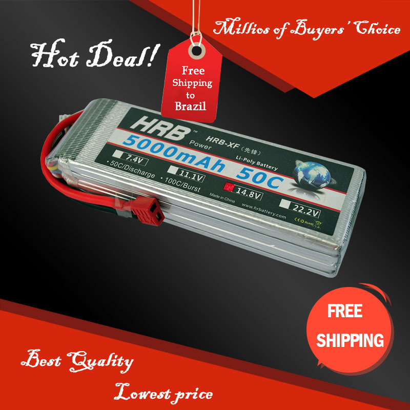 Free Shipping HRB Wholesale Price 14.8V 5000mah 50C Max 60C Toys & Hobbies For Helicopters RC Models Li-polymer Battery(China (Mainland))