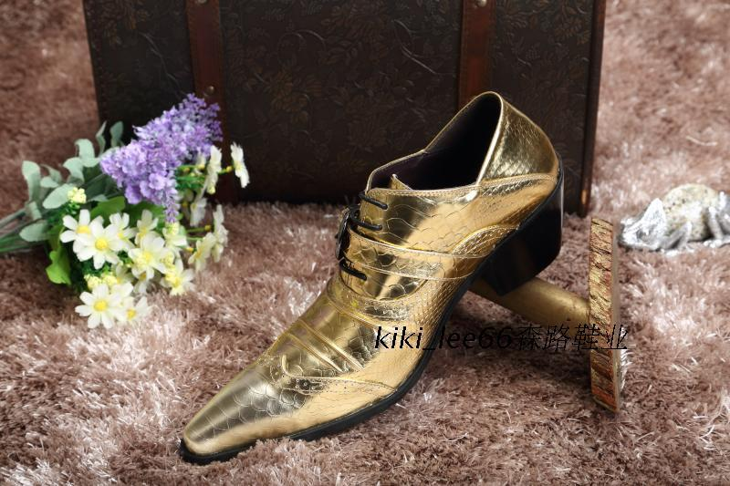 Golden Sun pointed shoes Korean version of the British mens fashion trend of mens leather low state personality Shoes<br><br>Aliexpress