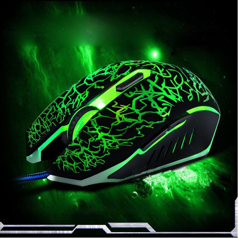Malloom 2016 New 6 keys Professional Colorful LED Backlight 4000 DPI Optical Wired Gaming Mouse Gamer Mice sem fio For PC Laptop(China (Mainland))