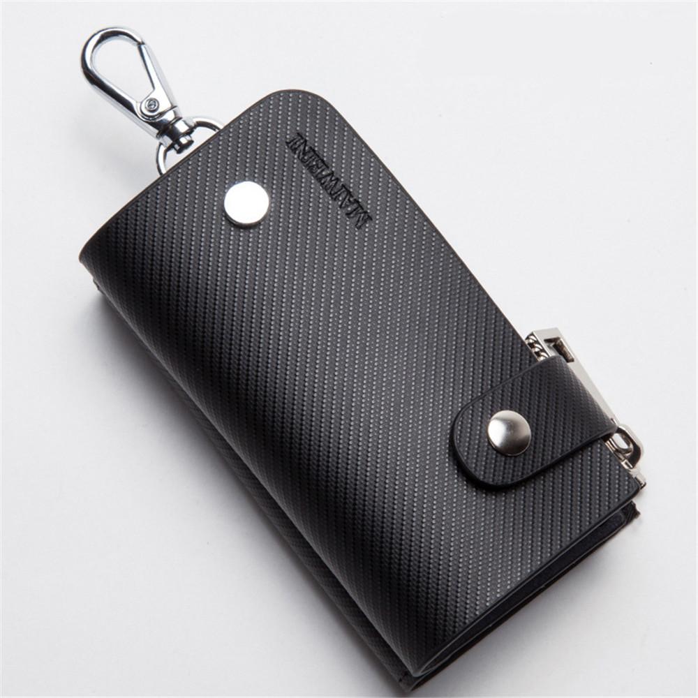 2016 Cowhide Genuine Leather Key Holder Wallets Big Capacity Porte Cle Car Key Organizer Bag Zipper Purse Carteira Leather Pouch(China (Mainland))