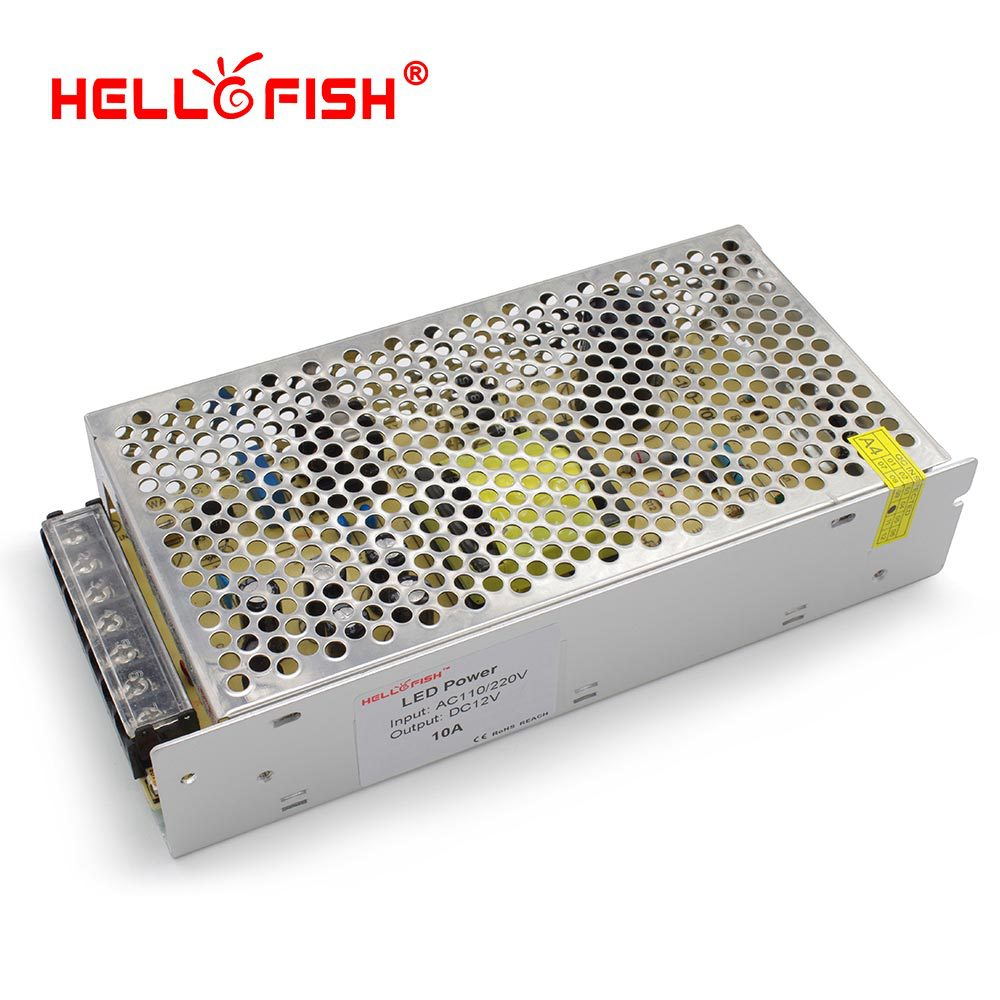 Hello Fish 12V 10A 120W switching power supply 12V 120 watts power adapter 12V led strip