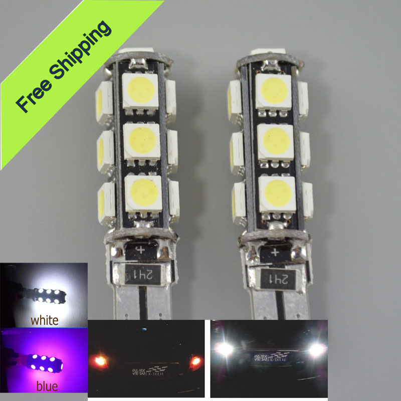 2pcs/ lot T10 W5W 194 501 W5W 13SMD 5050 LED LAMP LED BULB Instrument Panel Courtesy Glove Box Light Bulb for Cars TB46(China (Mainland))