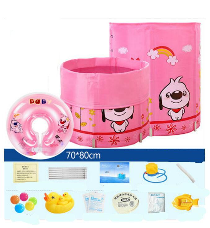 High Quality Character Newborn Swimming Pool Children Inflatable Round Bath Tub Free Insulation(China (Mainland))