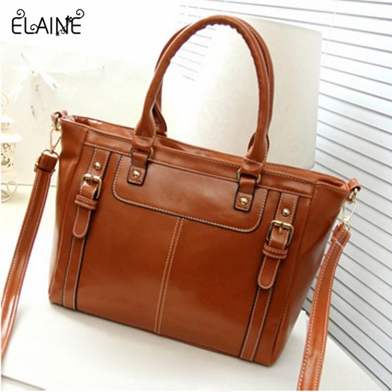 2016 Elaine- hot sale women vintage casual luxury leather handbag fashion party wedding messenger bag ladies shoulder bags(China (Mainland))