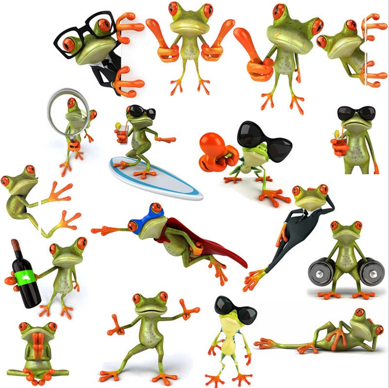 Ner Arrival Hot The frog 3D car stickers and decals in car accessories styling covers glue cartoon stickers on car Freeshipping(China (Mainland))