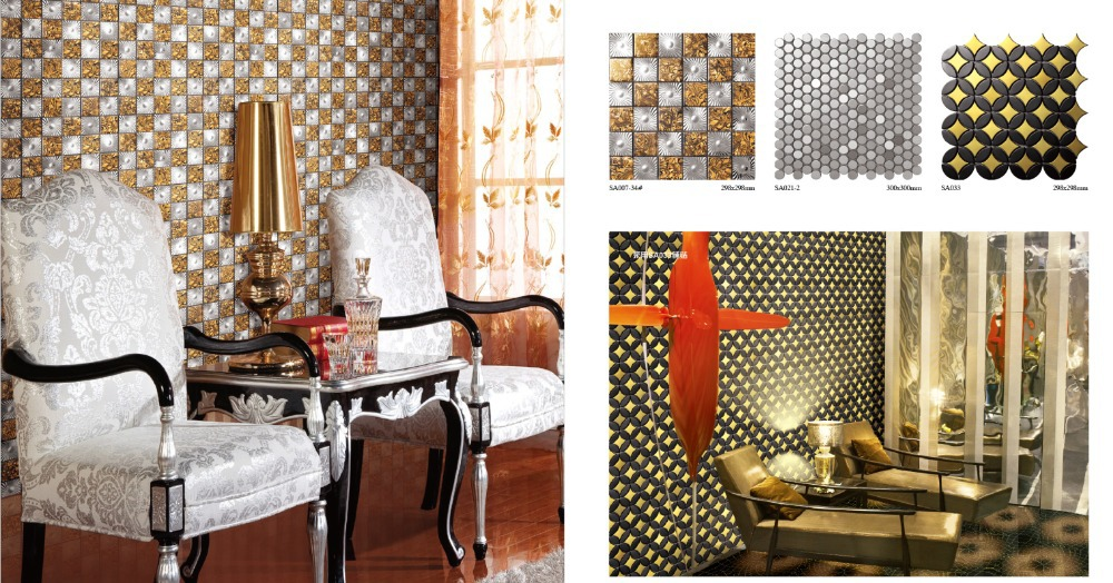 Metal mosaic tile picture   more detailed picture about sa021 2 ...