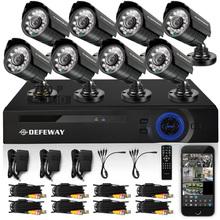 Defeway 8CH 720 P DVR 8 PCS 720 P 1200TVL IR intempéries CCTV caméra extérieure de sécurité à domicile système de Surveillance Kits P2P E - cloud(China (Mainland))