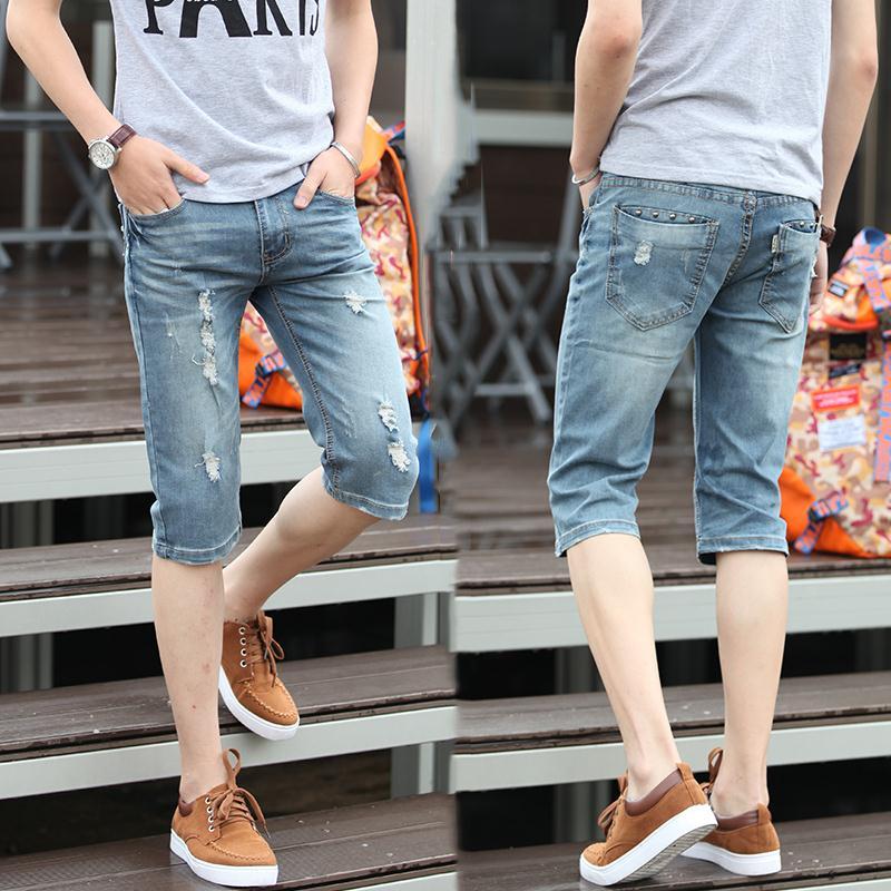 Short Pants Ripped Men Promotion-Shop for Promotional Short Pants ...