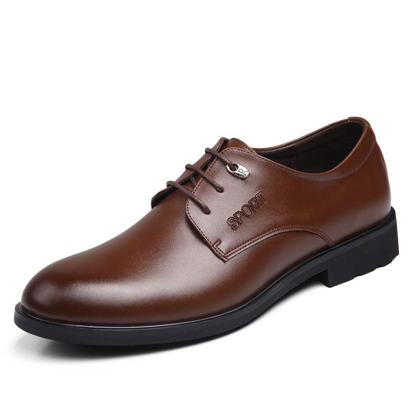Здесь можно купить  New Men Oxfords Shoes PU Soft Leather Male Gift Business Flats Lace-Up Pointed Toe Luxury Craft Top Fashion Wedding High Quality  Обувь
