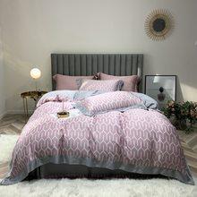 100% bamboo fiber satin duvet cover set European style bedding silk feeling floral cartoon smooth soft king queen size bed linen(China)
