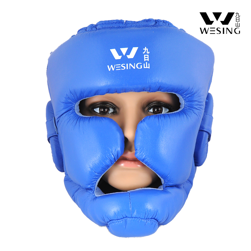 Boxing head protection fully enclosed boxing helmet full closed head protection super-fibre leather<br><br>Aliexpress