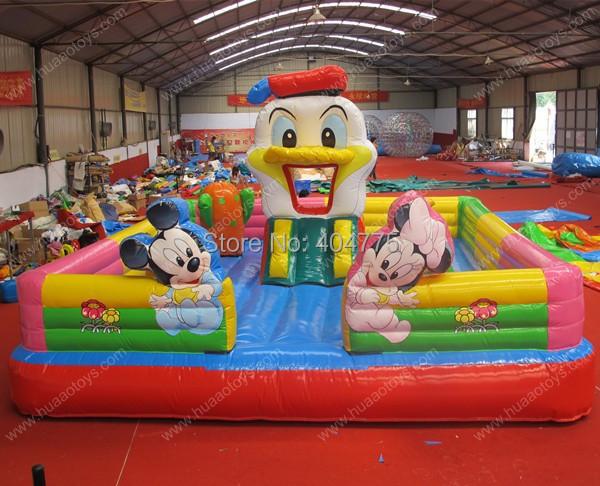 Commerciale saut gonflable ch teau micky souris cavalier gonflables aire de j - Jeux gonflables a vendre ...
