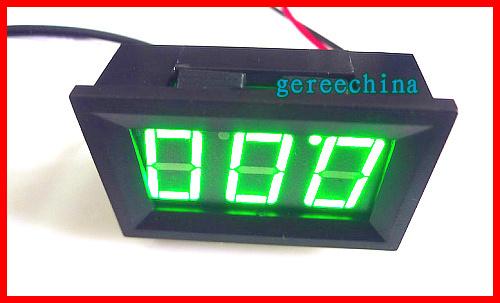 100pcsc/lot Mini Green DC 0-10A Digital display ammeter  Ampere Meter tester Current panel meter<br>