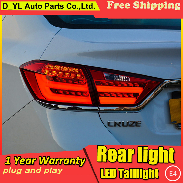 Car Styling Tail Lamp for Cruze Tail Lights 2014-2016 For Cruze LED Rear Light Tail Lamp DRL+Brake+Park+Signal Stop light(China (Mainland))