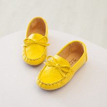 Autumn Children Shoes Girls Shoes Slip On Loafers Girls Moccasins Leather Shoes Fashion Bowknot Kids Flats Shoes(China (Mainland))