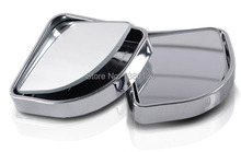 1Pair Push Rearview View Convex Mirror Wide Angle Sector Adjustable Auto Car Blind Spot Mirror Black/Silver Free Shipping(China (Mainland))