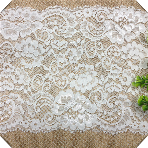 10 yards Elastic Eyelash lace for lace dress,wedding Lace trim,french Chantilly lace fabric 18cm wide