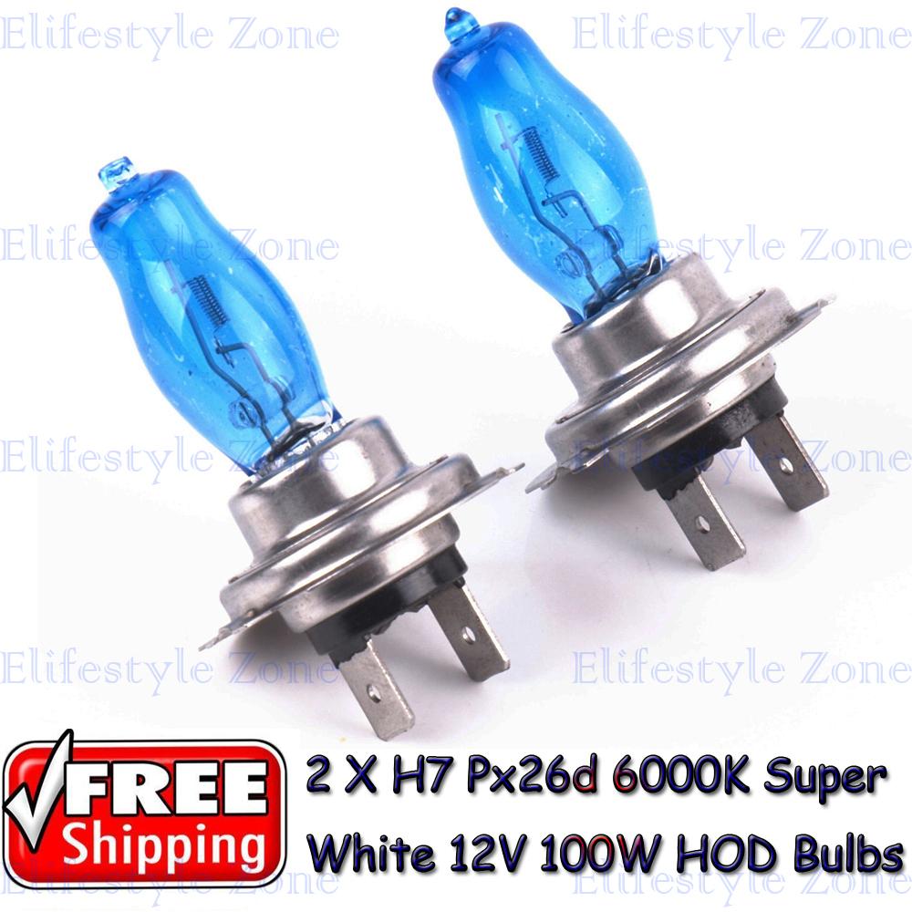 Гаджет  2 x H7 Px26d 12V 6000K 100W Super White High Beam Low Beam  Auto Car HOD Halogen Bulbs Lamps Headlight Bulbs None Автомобили и Мотоциклы