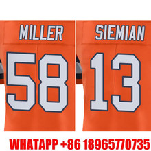 Men's #58 Von Miller #13 Trevor Siemian Orange Color Rush Limited Free Shipping(China (Mainland))