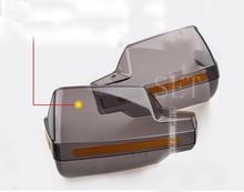 Handle bar parabrezza parabrezza universale del motociclo grande trasparente anteriore vento shield proteggere deflettore parabrezza(China (Mainland))