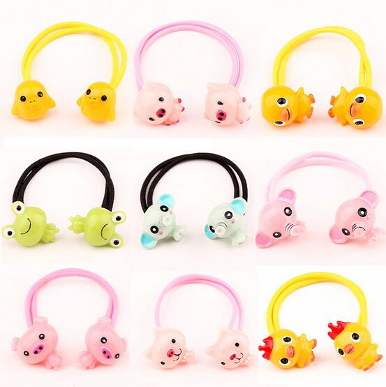 New Arrival styling tool cute animals Elastic Hair Bands accessories make you Beautiful used by women young girl and children(China (Mainland))